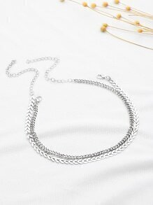 Arrow Shaped Chain Choker 2pcs