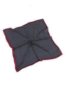 Pinstriped Print Satin Bandana