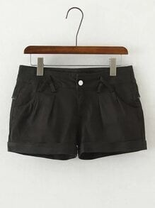 Rolled Hem Loose Shorts
