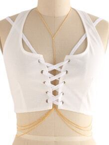 Layered Chain Body Harness