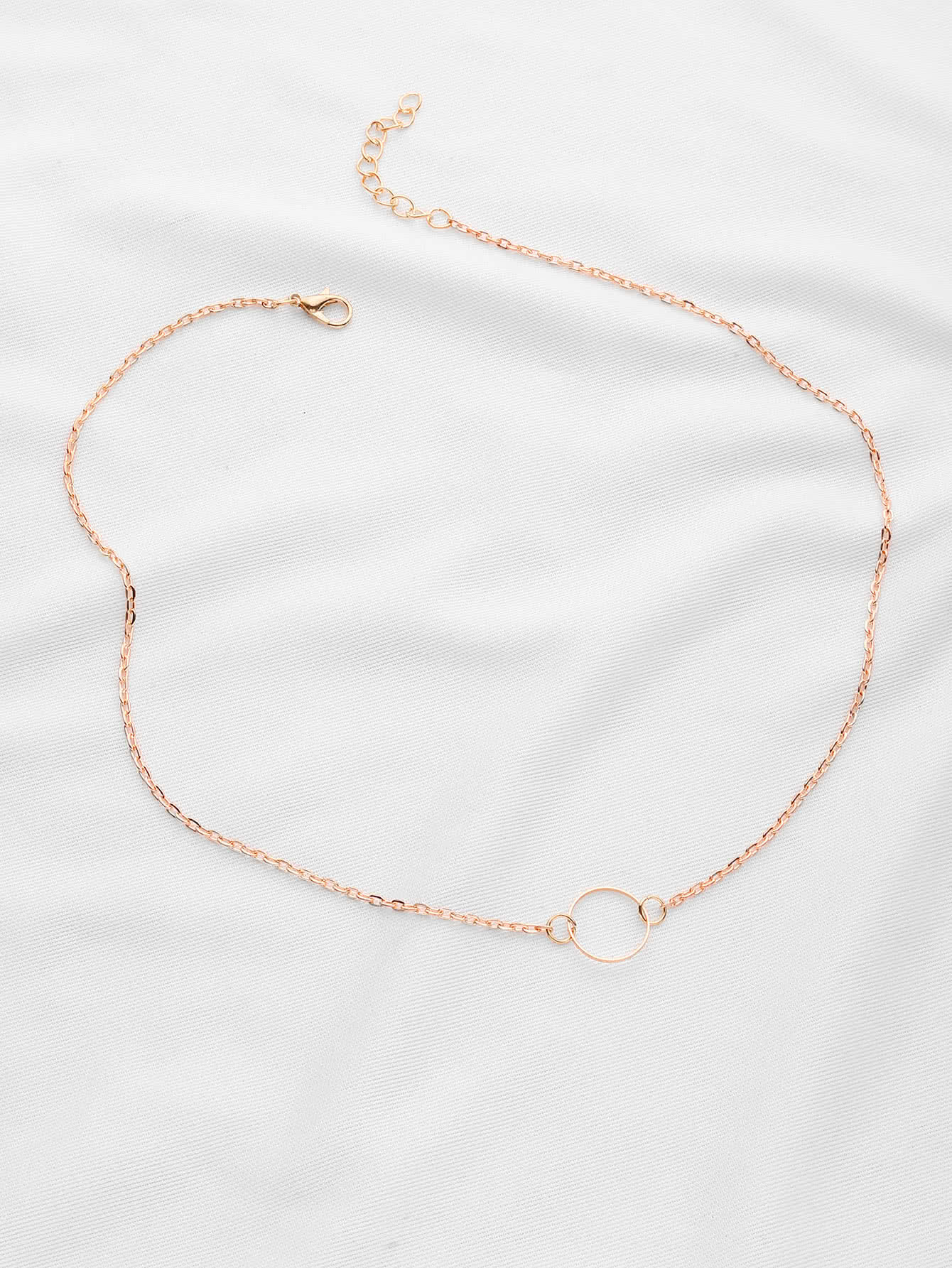 products chain link necklace rose gold jewelry cat