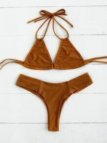 Halter Beach Bikini Set
