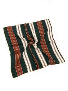 Vertical Striped Print Bandana