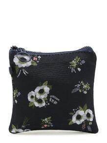 Flower Print Mini Storage Bag