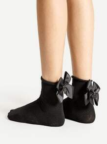 Bow Tie Back Ankle Socks