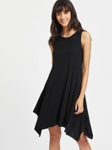 Rib Knit Hanky Hem Tank Dress