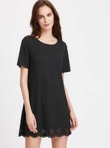 Tunika Kleid mit Bogenkante