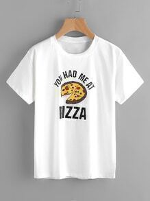 Pizza Print Tee