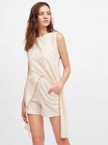Split Back Multiway Top With Shorts