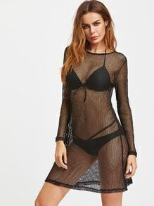 Hollow Out Cover Up Dress