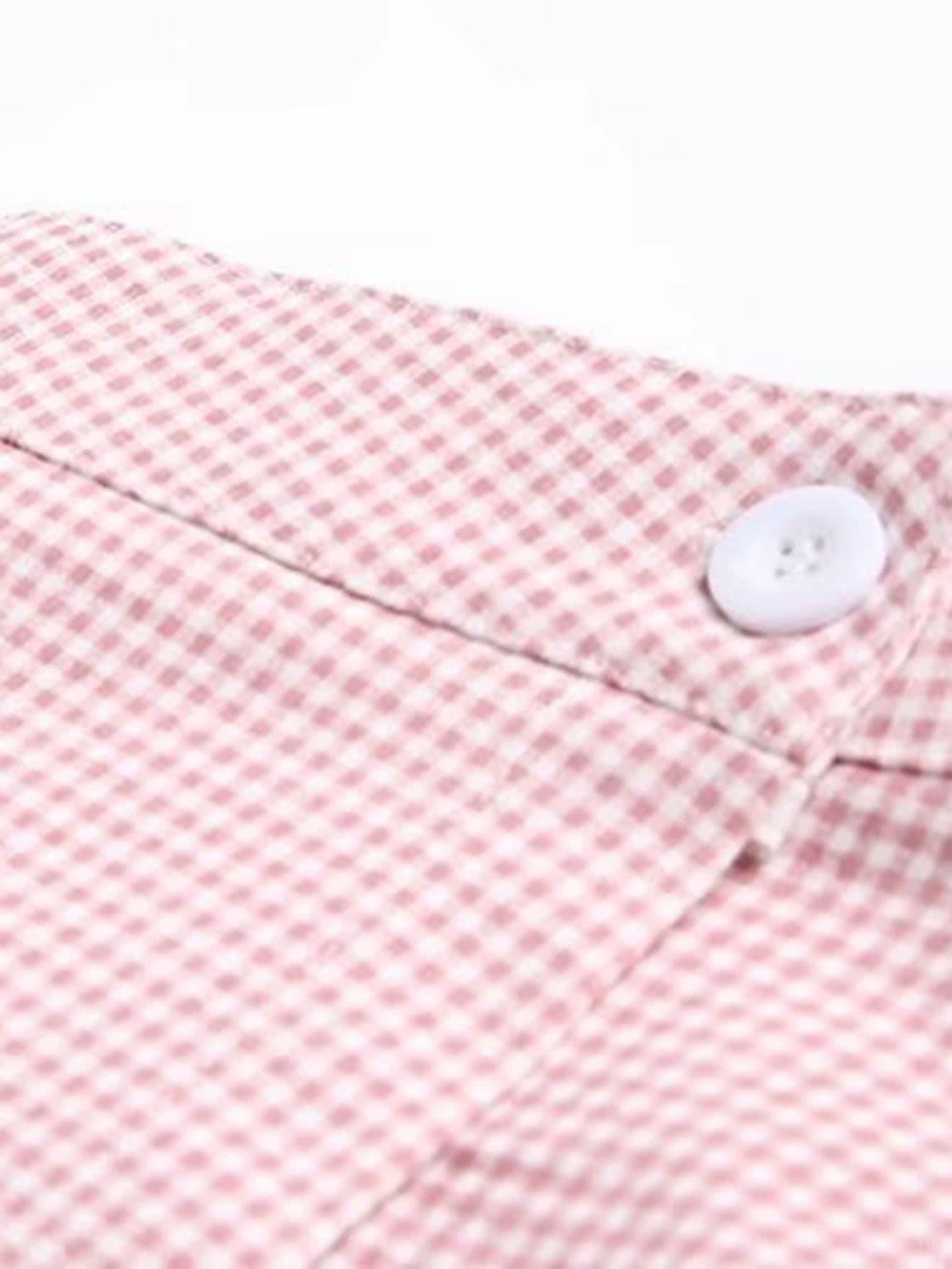 Falda de cuadros en l nea a con botones spanish romwe - Cuadros con botones ...