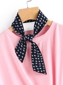 Geometric Print Twilly Scarf