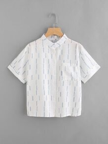 Printed Random Shirt With Chest Pocket