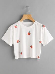 Strawberry Print Tee