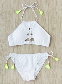 Side Tie Cutout Front Bikini Set