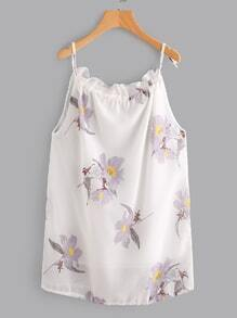 Random Florals Cami Chiffon Dress