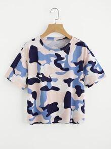 Tee-shirt imprimé de camouflage