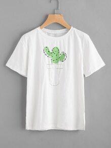 Potted Print Tshirt