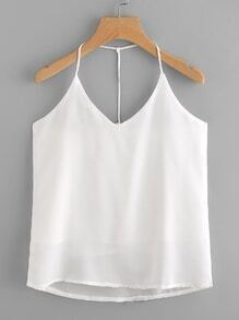T Strap Back Chiffon Top