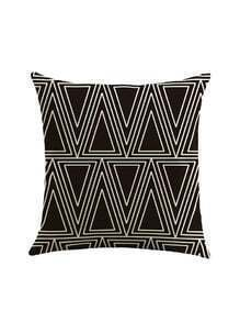 Triangle Print Pillowcase Cover