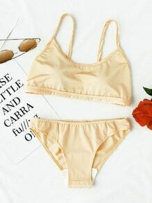 Spaghetti Strap Beach Bikini Set
