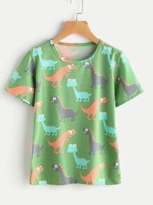 Dinosaur Print Tee