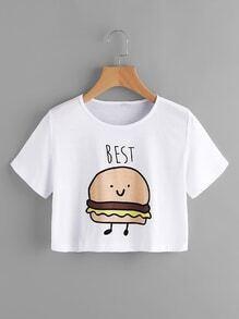 Hamburgers Print Tee