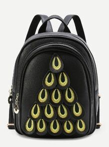 Peacock Feather Design PU Backpack