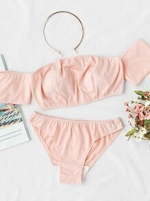 Off The Shoulder Beach Bikini Set