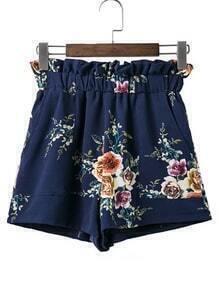 Elastic Waist Loose Shorts