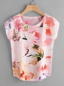Dolman Sleeve All Over Printed Random Tee