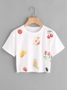 Fruit Print Tee
