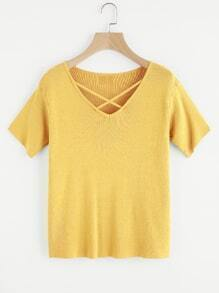 Criss Cross Knit Tee