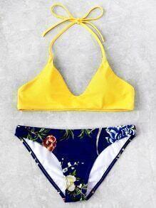 Botanical Print Mix And Match Bikini Set