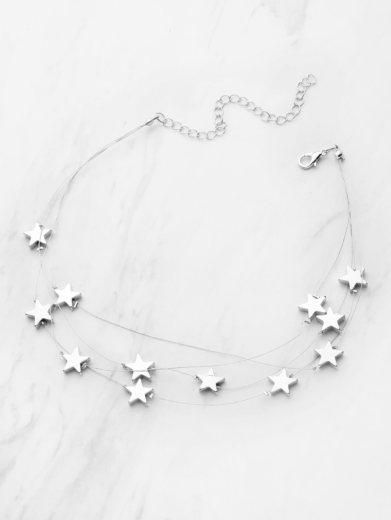 and silver product com necklace danon pearl charms star lizzielane fine long