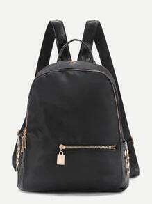 Metal Detail Nylon Backpack